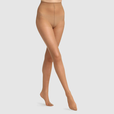 Green by Dim semi-opaque cinnamon tights 100% recycled thread 25D, , DIM