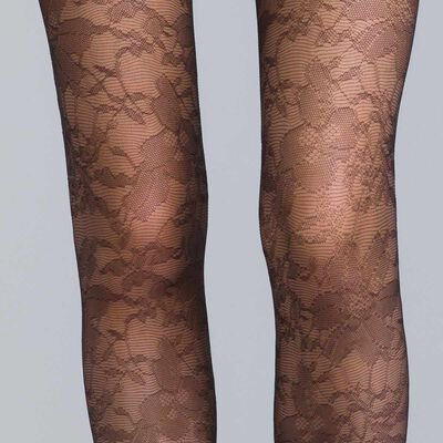 DIM Signature 24 mystery black lace tights - DIM