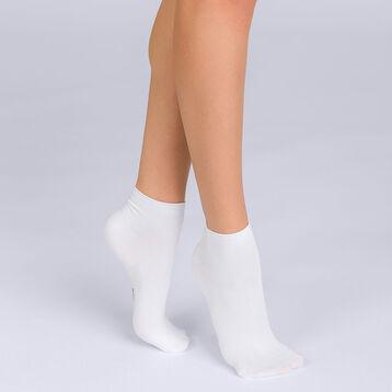 Lot de 2 socquettes courtes blanches Skin Femme-DIM