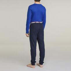 DIM Boy 2-piece long-sleeved pyjama pack Navy Blue, , DIM