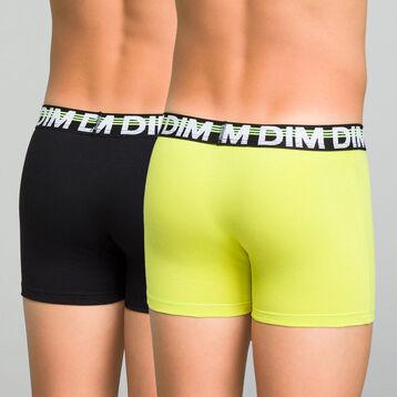 Lot de 2 boxers garçon noir et jaune fluo - Eco Dim, , DIM