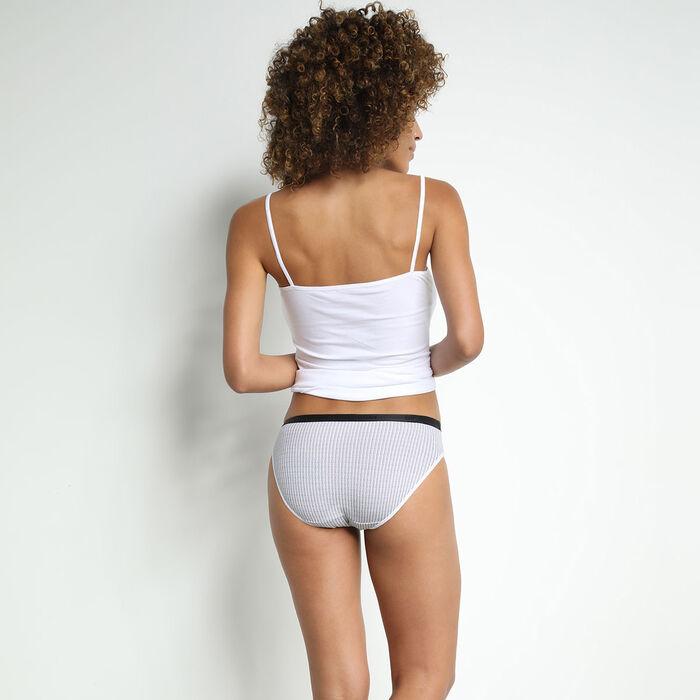 Les Pockets Women's 4 Pack of Geometric Stretch Cotton Briefs, , DIM