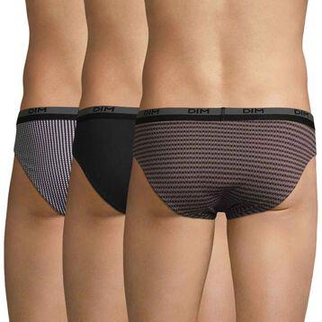3 pack geometric pattern men's briefs - Coton stretch, , DIM