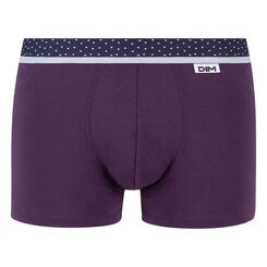 Velvety Violet with a Polka Dot waistband trunks Mix & Dots, , DIM