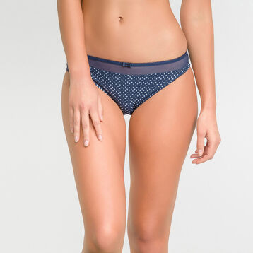 Microfiber blue brief with white dots  – Dim Generous, , DIM