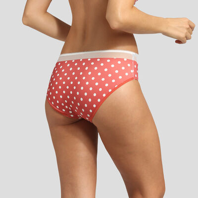 Red polka dot microfiber briefs Dim Generous Retro, , DIM