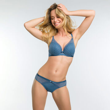 Culotte femme dentelle bleu antique - Dim Daily Glam Trendy Sexy, , DIM