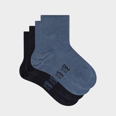 Набор 2 шт.: синие женские носки из модала Dim Modal, , DIM