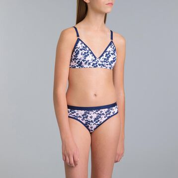 Pocket DIM Girl Blue Flower non-wired bra - DIM