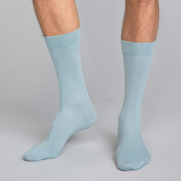 Ocean Blue Men's Crew Socks in cotton, , DIM