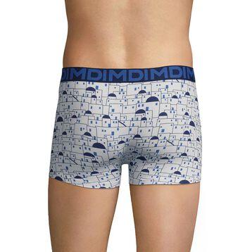 White trunks with blue patterns - Dim Mix & Fancy, , DIM