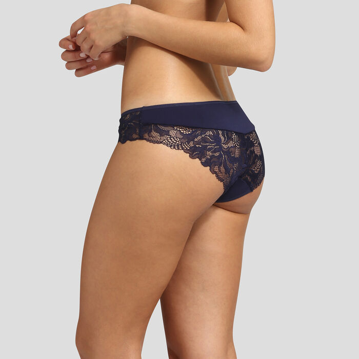 Infinite blue lace briefs Essentiel Generous by Dim, , DIM