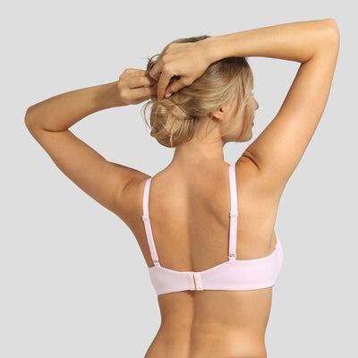Ballerina pink invisible padded bra Dim Generous Limited, , DIM