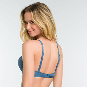 Push up bra in blue lace - Dim Daily Glam Trendy Sexy, , DIM