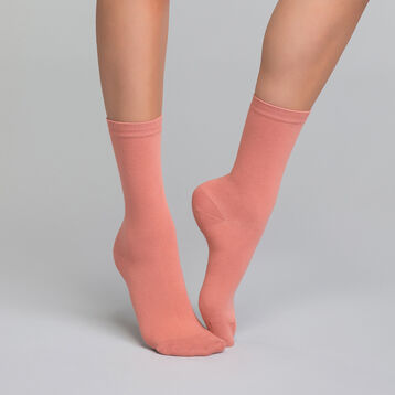 Old pink women's sock in cotton - Dim Basic Coton, , DIM