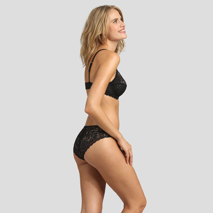 Lace black briefs Dim Sublim, , DIM