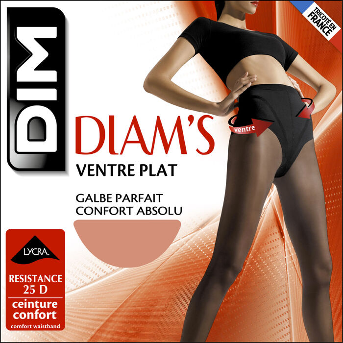 Sunkissed Diam's Ventre Plat 25 tummy-flattening tights, , DIM