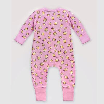 """Розовая хлопковая пижама на молнии с принтом """"Лимон"""" Dim Baby, , DIM"""