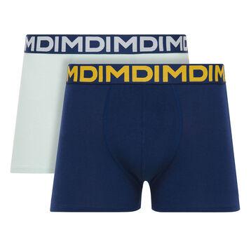 Lot de 2 boxers bleu topaze et bleu marin Mix & Fancy-DIM