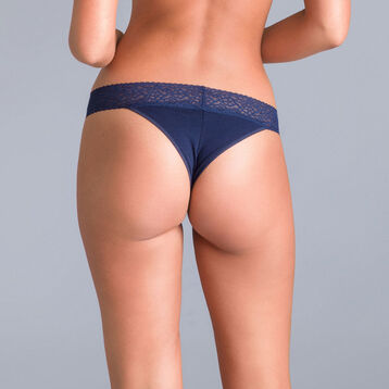 Table Panties midnight blue Brazilian briefs - DIM