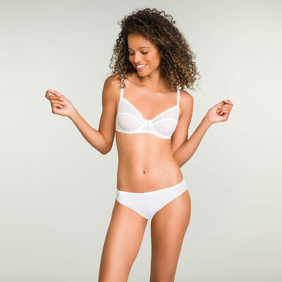 Full cup underwire white bra Mes Essentiels, , DIM
