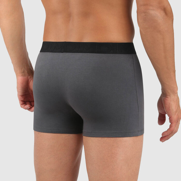 Men's stretch cotton trunks Dark grey Classic Boxer, , DIM