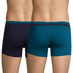 Set of 2 Soft Touch Pop aqua and cobalt blue boxers - DIM