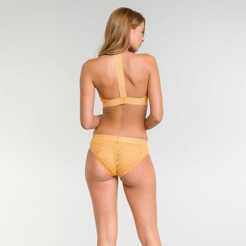 Golden yellow lace wireless triangle bra - MOD de Dim, , DIM