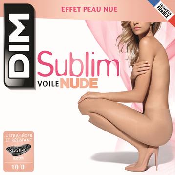 Collant Sublim voile effet nude beige rosé 10D-DIM
