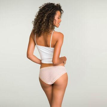 Nude Pink women's polka dot tulle briefs Dotty Mesh Panty Box, , DIM