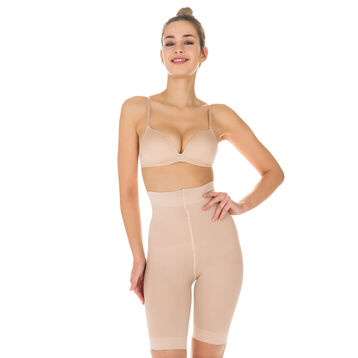 Diam's Action Minceur high-waisted long-leg active slimming shorts in nude, , DIM