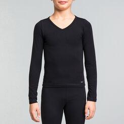 Black DIM Girl cotton long sleeved T-shirt - DIM