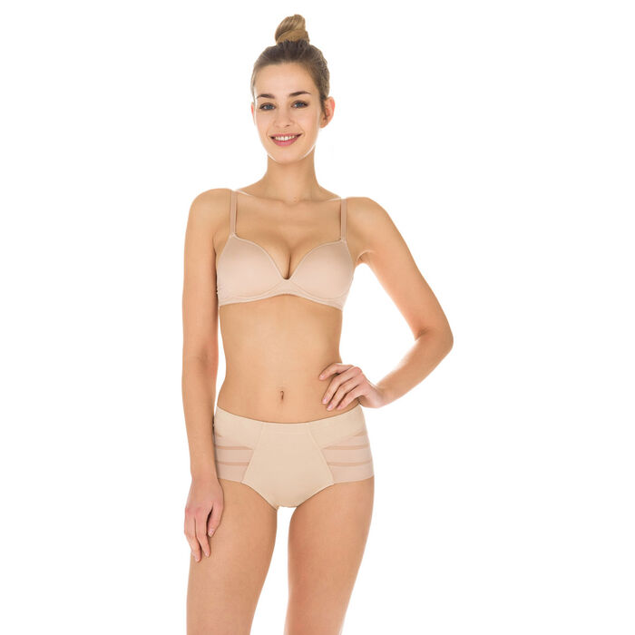 Diam's Control tummy slimming knickers in nude, ,