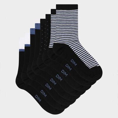 """Набор 4 шт.: черные женские носки с принтом """"Горох"""" и """"Полоска"""" EcoDim Style, , DIM"""