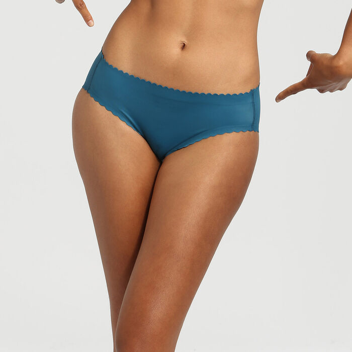 Dim Body Touch organic blue microfibre briefs, , DIM