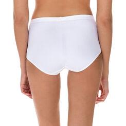 Culotte taille haute blanche Generous en microfibre, , DIM