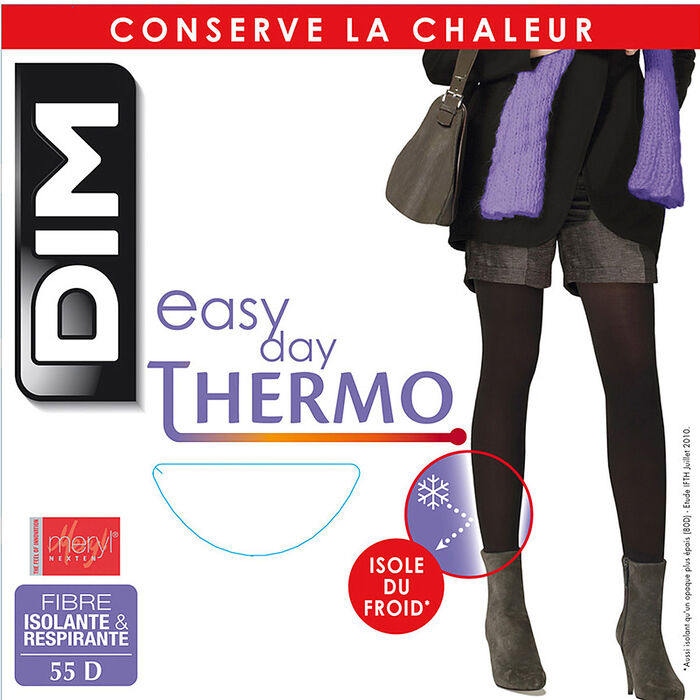 Collant chaud noir Thermo Isolant 55D, , DIM