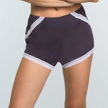Granite Grey Pyjama shorts in modal cotton Softly Line, , DIM
