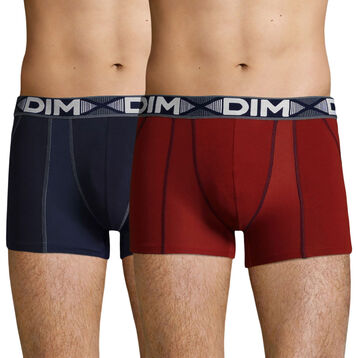 2 Pack men's trunks Red Chalk and Denim Blue 3D Flex Air, , DIM