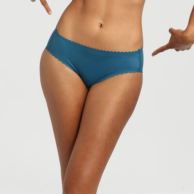 Dim Body Touch organic blue microfibre briefs, , DIM