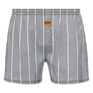 Dim 100% cotton loose fit boxer shorts in Stripe Print, , DIM