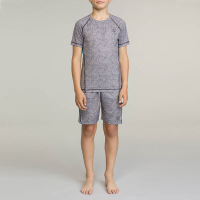 Grey and Blue DIM Boy Sport Shorts, , DIM