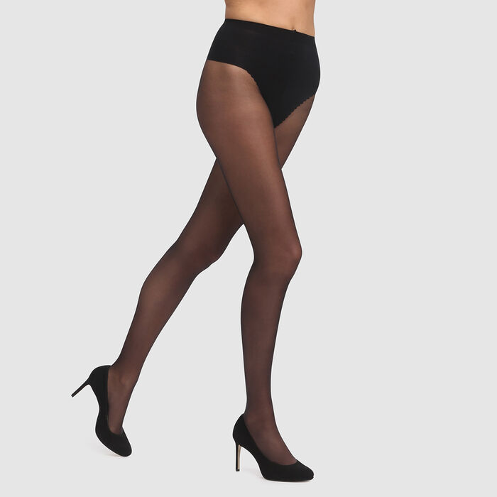 Black Sublim Ventre Plat 15 tummy-flattening tights, , DIM