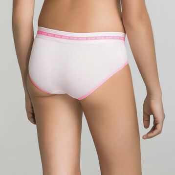 Mottled peachy pink brief for Girl - Dim Sport, , DIM