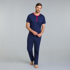 Tee-shirt de pyjama bleu matelot Night Signature-DIM