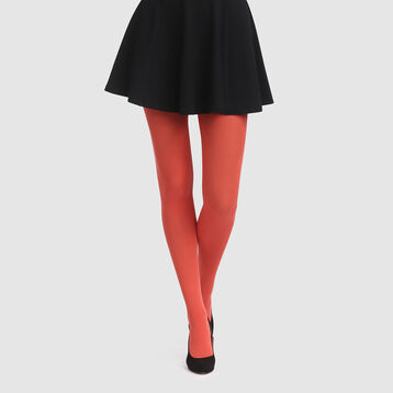 Dim Style apple red opaque velvet tights 50D , , DIM