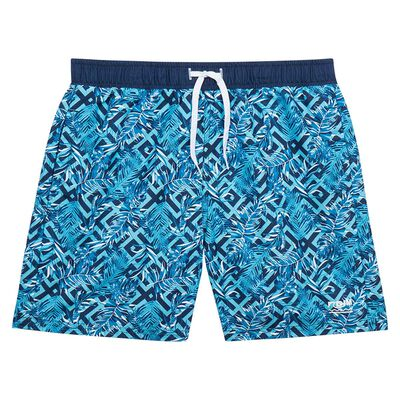 Miami blue exotic print long swim shorts Dim Boy, , DIM