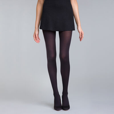 Black DIM Signature Opaque Velouté 60 velour tights, , DIM