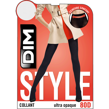 Collant noir ultra-opaque 80D Madame So Daily-DIM