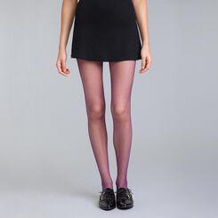 Style 73 midnight purple fishnet tights - DIM